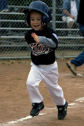 Correndo para a primeira base