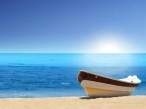 barco e praia