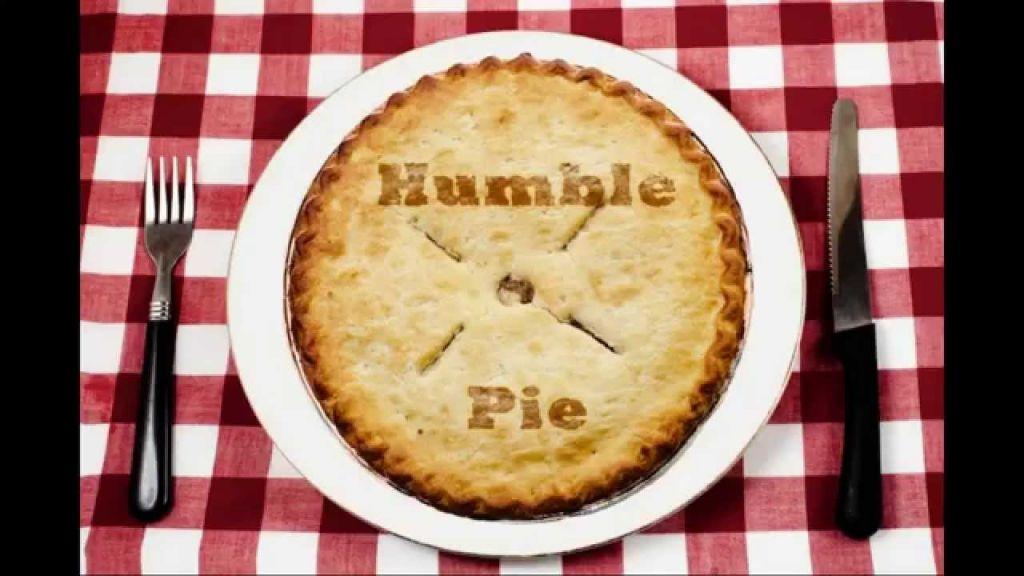 eat humble pie