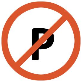 É proibido estacionar no parque!