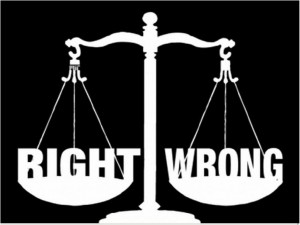 right x wrong